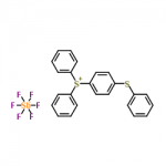 Structure of 4-Thiophenyl phenyl diphenyl sulfonium hexafluoroantimonate CAS 71449-78-0