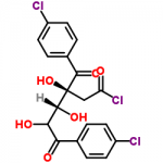 Structure of 1-Chloro-3,5-di(4-chlorbenzoyl)-2-deoxy-D-ribose CAS 3601-90-9