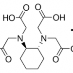 Structure of 1,2-CYCLOHEXANEDIAMINETETRAACETIC ACID MONOHYDRATE CAS 125572-95-4