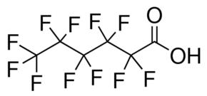 structure of Undecafluorohexanoic acid CAS 307-24-4