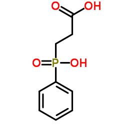 Structure of 3-Hydroxyphenylphosphinyl-propanoic acid CAS 14657-64-8
