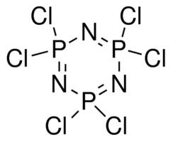 Structure of Hexachlorophosphazene CAS 940-71-6
