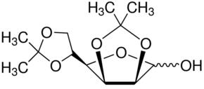 Structure of Diaceton-alpha-D-mannofuranose CAS 14131-84-1