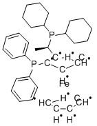 Structure-of (R)-(-)-1-[(S)-2-(Diphenylphosphino)ferrocenyl]ethyldicyclohexylphosphine ethanol adduct CAS 155806-35-2
